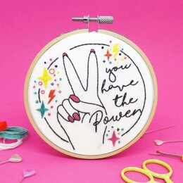 The Make Arcade Mini Embroidery - You have the Power - 4in