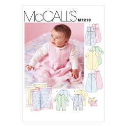 McCall's Infants' Buntings, Jumpsuits, Hats and Blanket M7219 - Sewing Pattern