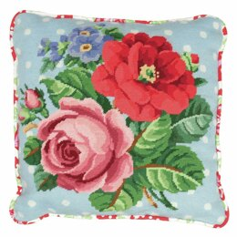 Anchor Berlin Roses Tapestry Cushion Front Kit - Multi