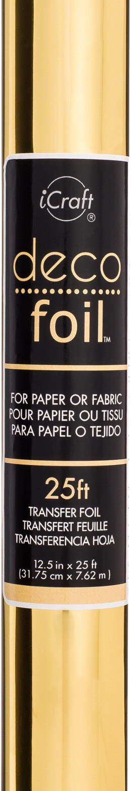 "Therm O Web Deco Foil Transfer Sheet 12.5""X25' Roll - Gold"