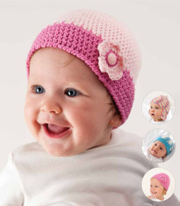 Hat and Booties in Rico Baby Cotton Soft DK - 241