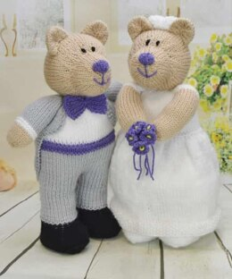 Bearly Wed Bride and Groom