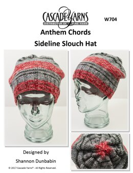 Sideline Slouch Hat in Cascade Anthem Chords - W704 - Downloadable PDF
