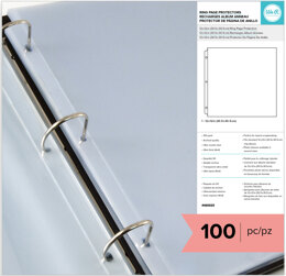 """We R Memory Keepers We R Ring Page Protectors 12""""X12"""" 100/Pkg - 098332"""