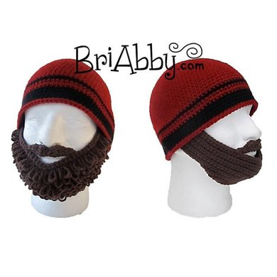 Curly Straight Beard Beanie Crochet Pattern By Joni Memmott