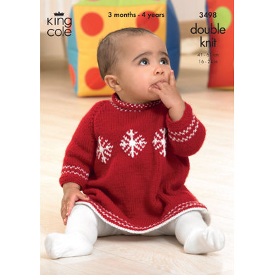 Sweater and Dress in King Cole DK - 3498