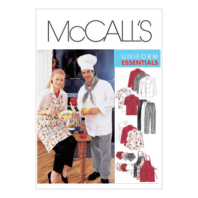 McCall's Misses' and Men's Jacket, Shirt, Apron, Pull-On Pants, Neckerchief and Hat M2233 - Sewing Pattern