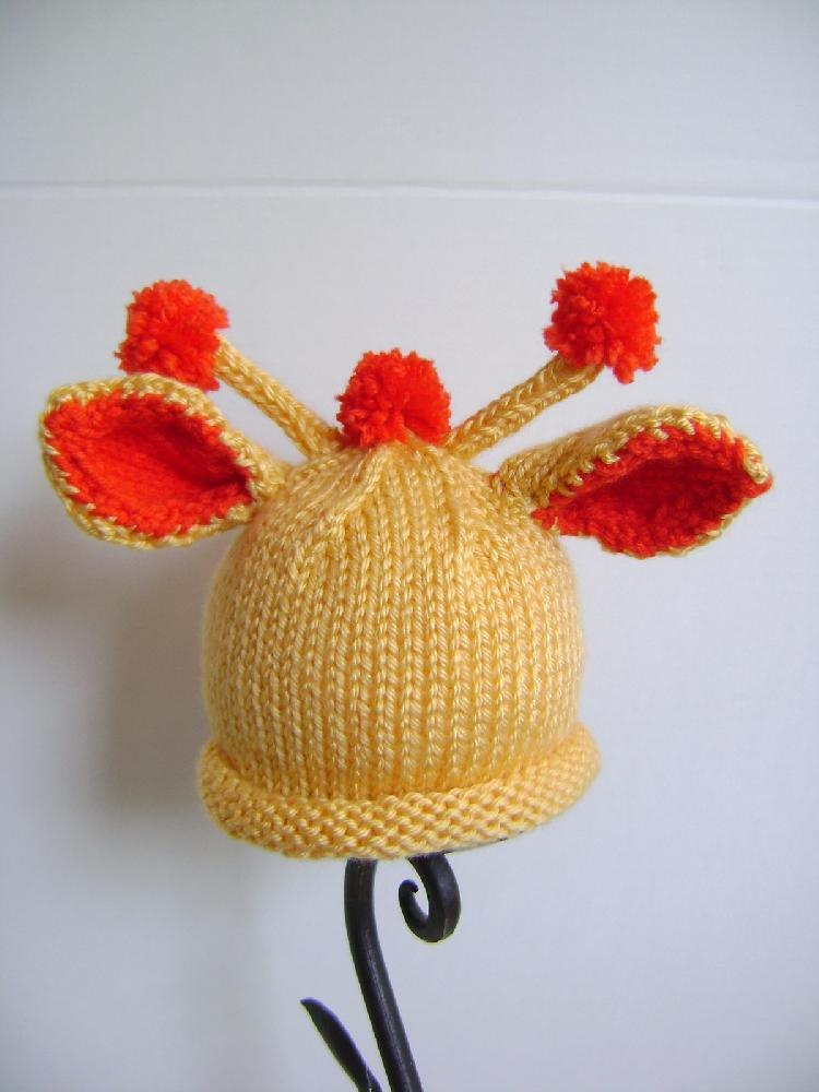 Baby Giraffe Hat Knitting Pattern : Giraffe Hat for Baby Knitting pattern by Creative Designs ...