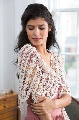 Wild Rose Shawl in Aunt Lydia's Bamboo Crochet Thread Size 10 - LC4046 - Downloadable PDF