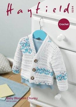 Boy's Cardigan in Hayfield Baby Blossom Chunky - 5234 - Downloadable PDF