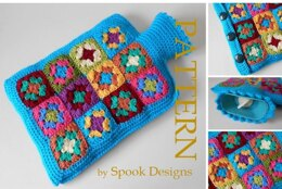 Hot Water Bottle Cover - Granny Square