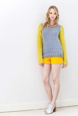 """Aimee Jumper"" - Jumper Knitting Pattern For Women in Debbie Bliss Paloma"