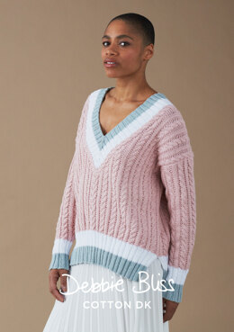 Patsy Jumper - Knitting Pattern For Women in Debbie Bliss Cotton DK