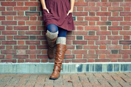 Simple Cable Rib Boot Cuffs