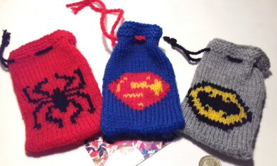Batman, superman and spiderman gift bags