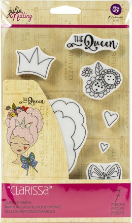 Prima Marketing Julie Nutting Mixed Media Cling Rubber Stamp - Clarissa