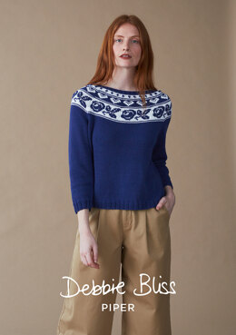 Rosalind Sweater in Debbie Bliss Piper - DB242 - Downloadable PDF