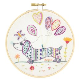 Un Chat Dans L'Aiguille Michel, A Dachshund Love Embroidery Kit