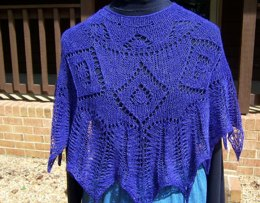 Helen's Choice ... a perfectly purple poncho