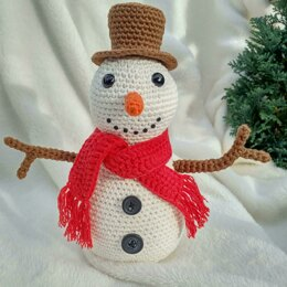 Seth the Snowman - UK Terminology - Amigurumi