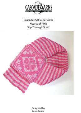 Hearts of Pink Slip in Cascade 220 Superwash - W281