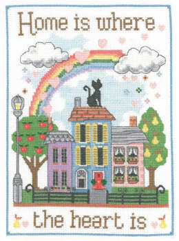 Creative World Of Crafts Home is Where the Heart Is Cross Stitch Kit - MPCS05
