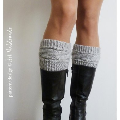 Boot Cuffs Boho Style Knit Boot Toppers Knitting Pattern By Sol