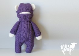 Cable Knit Teddy Bear Stuffie (2015021)