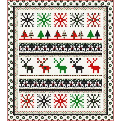 Michael Miller Fabrics Christmas Sweater Quilt - Downloadable PDF