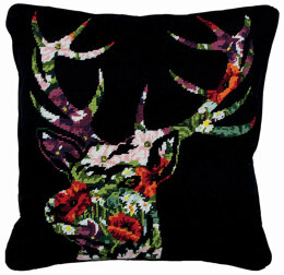 Anchor Stag Silhouette Cushion Front Tapestry Kit