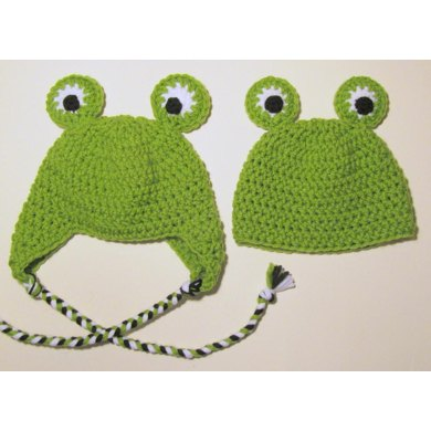 Frog Hat Newborn to Adult