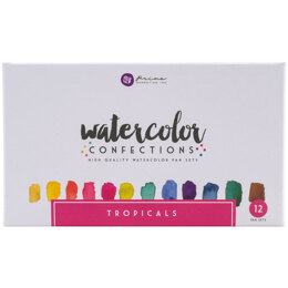 Prima Marketing Prima Watercolor Confections Watercolor Pans 12/Pkg - Tropicals