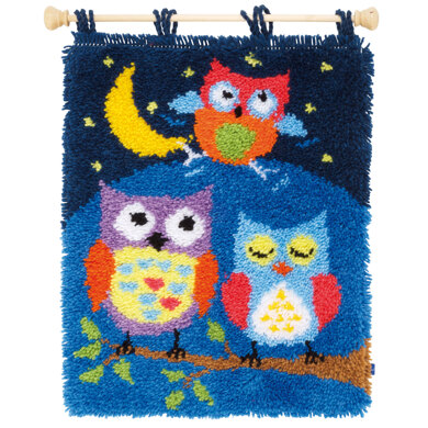 Vervaco Owls in the Night Latch Hook Kit