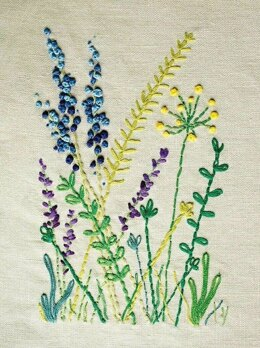 DMC Wild Flowers (with Magic Paper) Embroidery Kit - 40cm x 1cm x 40cm - TB116
