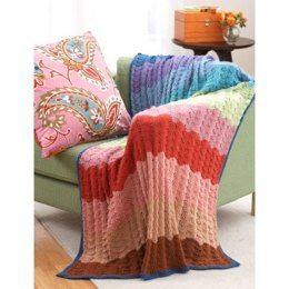 Feather and Fan Afghan in Bernat Satin