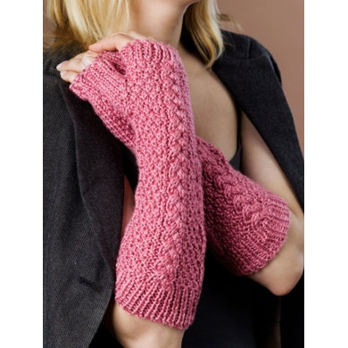 Fingerless Gloves in Caron Simply Soft - Downloadable PDF