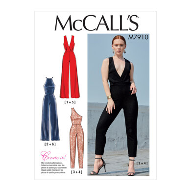 McCall's Misses' Jumpsuits M7910 - Sewing Pattern