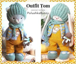 Crochet Outfit Tom for Kitten or Bunny