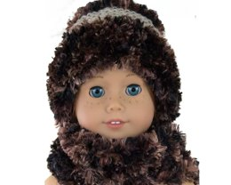 Winter Hat, Scarf and Earmuffs for Trench  Coat
