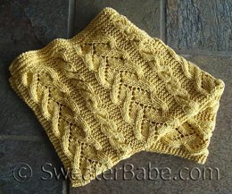 #96 Fancy Cables and Lace Baby Blanket