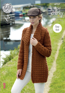 Jacket & Sweater in King Cole Big Value Super Chunky - 4707