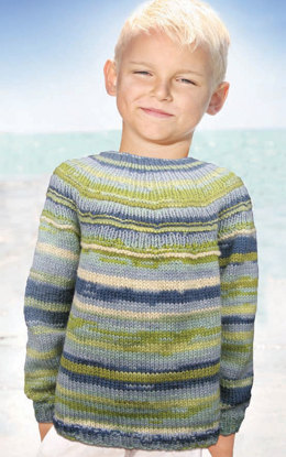 Jack and Jill Sweater in Knit One Crochet Too Ty-Dy Wool - 1800