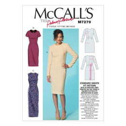 McCall's Misses' Dresses and Optional Collar M7279 - Sewing Pattern