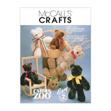 McCall's Stuffed Animals M6188 - Sewing Pattern