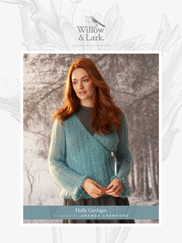Holly Cardigan in Willow and Lark Plume - Downloadable PDF