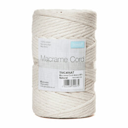 Trimits Cotton Macrame Cord: 4mm x 87m - Natural