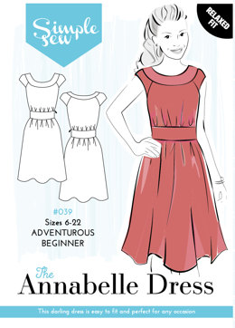 Simple Sew Patterns The Annabelle Dress #039 - Sewing Pattern