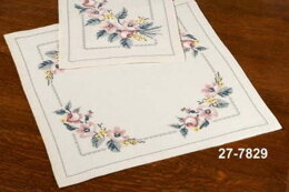 Permin Roses Tablecloth Cross Stitch Kit - Multi