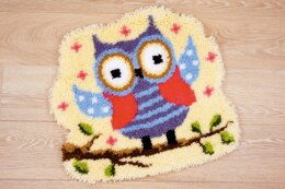 Vervaco Owl Shaped Rug Latch Hook Kit