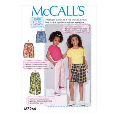 McCall's Children's and Girls' Shorts and Pants M7966 - Sewing Pattern
